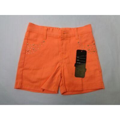 122-es uv-narancssárga farmervászon short lánynak - ÚJ