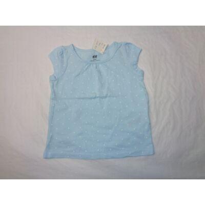 92-es világoskék pöttyös póló - H&M