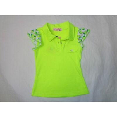 104-es neonsárga epres póló - ÚJ