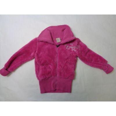 110-es szőrmés pink kardigán - ÚJ