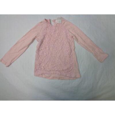 92-es rózsaszín csipkés pamutfelső - Pepco