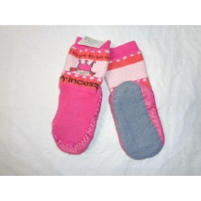 13 cm-es rózsaszín hercegnős talpas zokni