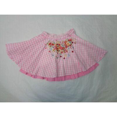 92-es rózsaszín kockás virágos alábélelt szoknya - H&M