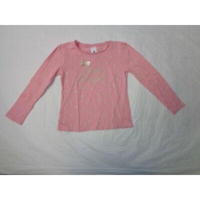 122-es rózsaszín szivecskés pamutfelső - C&A