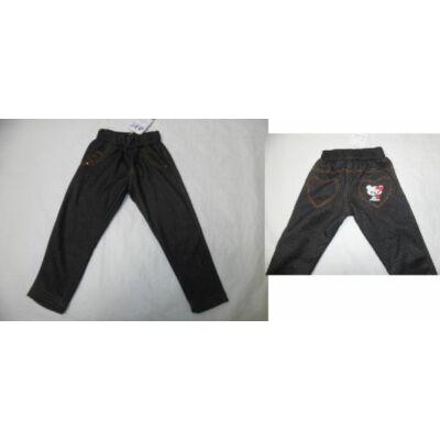 98-as fekete macis szőrmével bélelt leggings - ÚJ