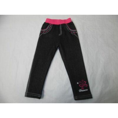 98-as fekete pillangós szőrmével bélelt leggings - ÚJ