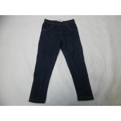 98-as kék farmer hatású szőrmével bélelt leggings - ÚJ