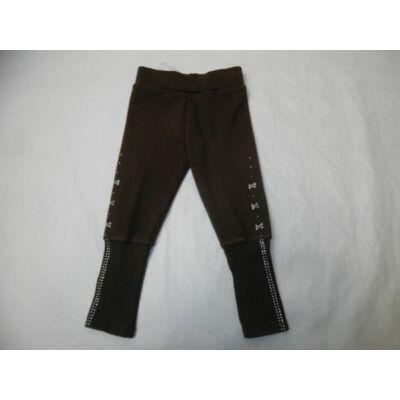 104-es barna strasszos szőrmével bélelt leggings - ÚJ