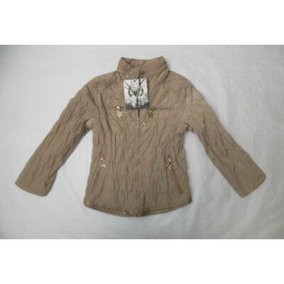 128-as barna lány átmeneti kabát - ÚJ