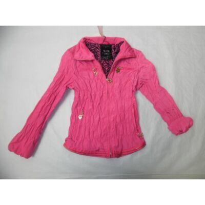128-as pink lány átmeneti kabát - ÚJ