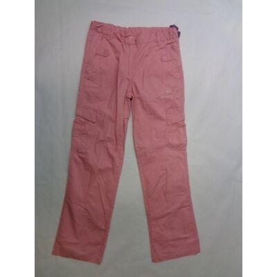 158-as rózsaszín lányka vászonnadrág - ÚJ