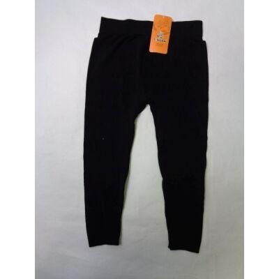 158-as fekete térdig érő leggings - ÚJ