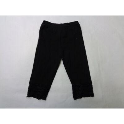 92-es csipkés aljú fekete leggings - ÚJ