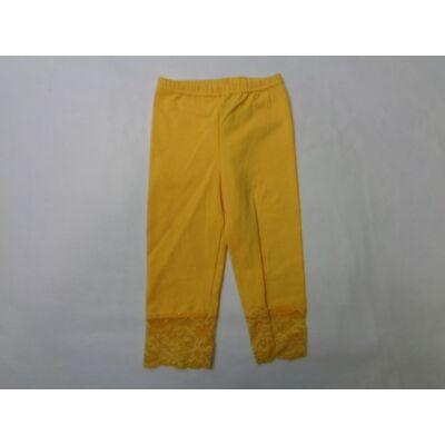 80-as csipkés aljú sárga leggings - ÚJ