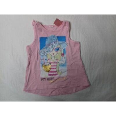 92-es rózsaszín lányos flitteres póló