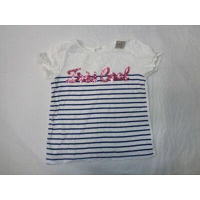 128-as fehér csíkos feliratos póló - C&A