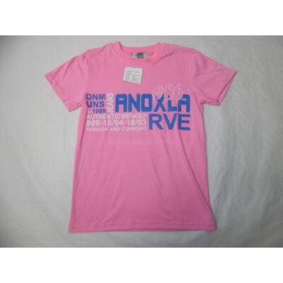 158-as rózsaszín feliratos póló - Arino - ÚJ