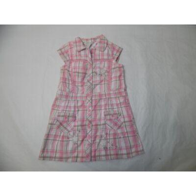 92-98-as rózsaszín kockás ruha