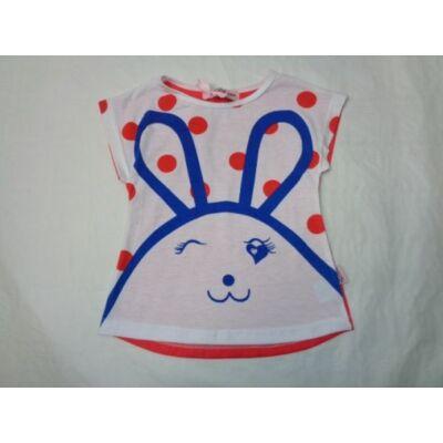 98-as nyuszis-pöttyös póló - Arino - ÚJ