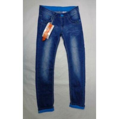 146-os kék felhajtós lány farmernadrág - ÚJ