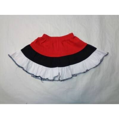 86-92-es piros-fekete pamut szoknya