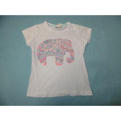 122-es fehér elefántos lány póló - Pepco