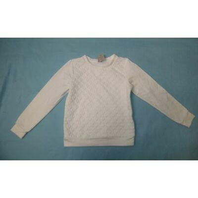 122-es szivecskemintás fehér kislány pulcsi - Dopodopo