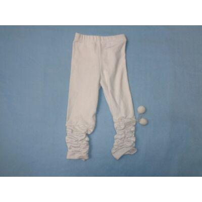 98-as fehér húzott oldalú leggings - ÚJ