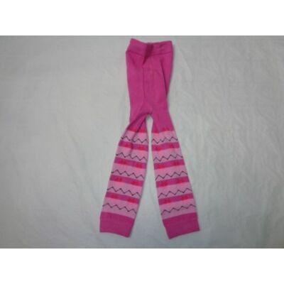 1-2 évesre rózsaszín  csíkos lábfejnélküli harinya - ÚJ