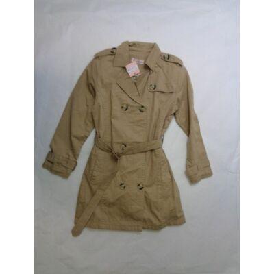 146-os drapp vászon átmeneti kabát lánynak - ÚJ