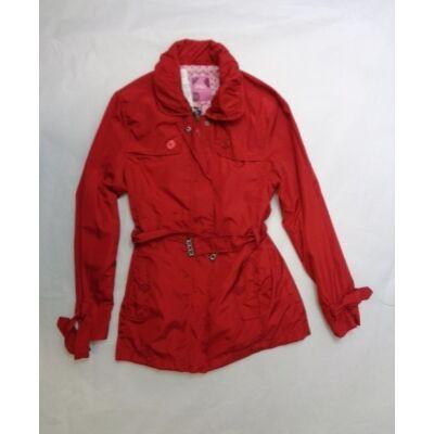 164-es piros átmeneti lányka kabát - F&D - ÚJ
