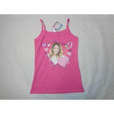 158-as rózsaszín pántos póló - Violetta - ÚJ