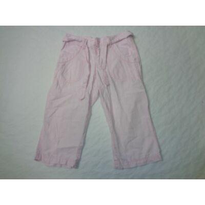 146-os rózsaszín lenes térdnadrág - H&M