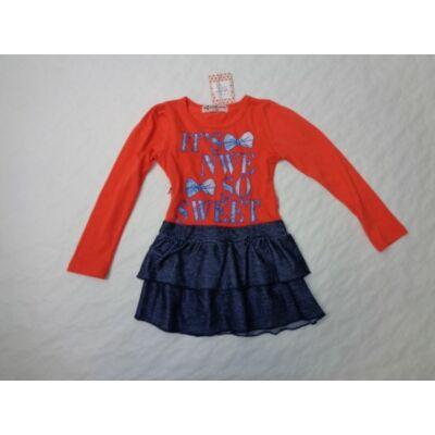 98-as piros-kék ruha - Arino - ÚJ