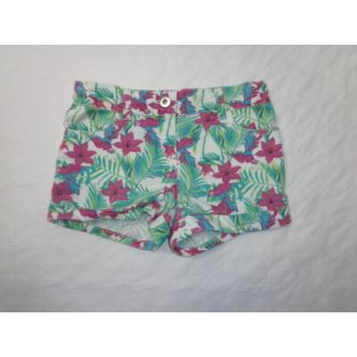 122-es pink-zöld papagájos farmershort - F&F