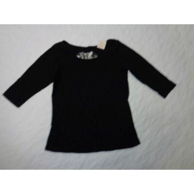 134-es fekete felesujjú lány pamutfelső - H&M