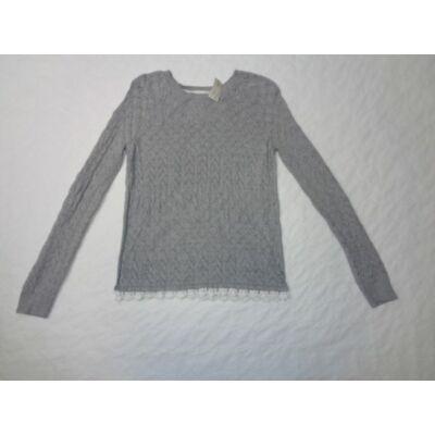 146-152-es szürke magában mintás kötött pulcsi - H&M