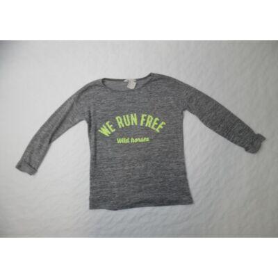 146-152-es szürke vékonyabb kötött pulcsi - H&M