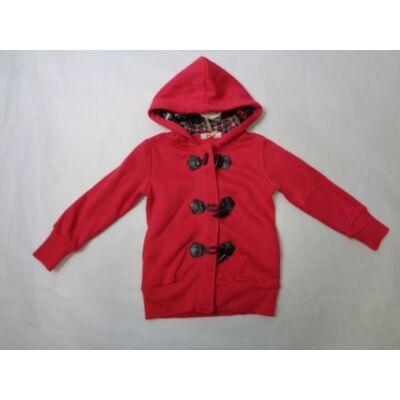 104-es piros lány pamut átmeneti kabát - ÚJ