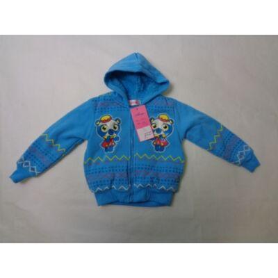 98-as kék macis lány kardigán - ÚJ