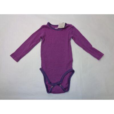80-as lila csíkos hosszúujjú body - H&M