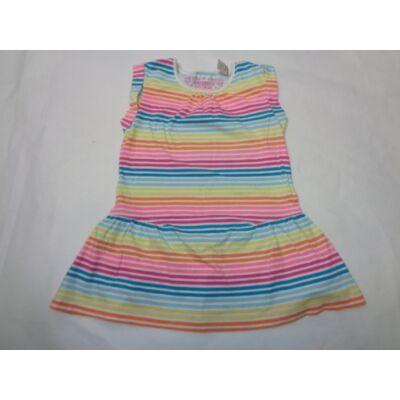104-es színes csíkos pamut ruha - George