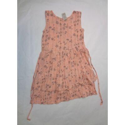 146-os barackszínű virágos csillogó ujjatlan ruha