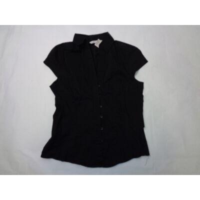 Női M-es fekete rövidujjú blúz - Zara - felicity.hu használt ruha ... 88ef0e9d36