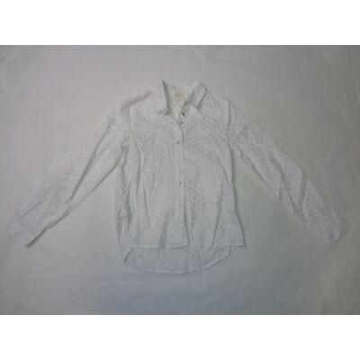 140-es fehér csillagos hosszúujjú blúz - Pepco