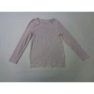 122-es rózsaszín-szürke melírozott pamutfelső