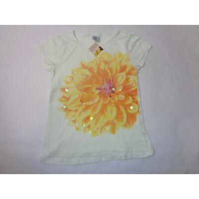 128-as virágos flitteres póló - Zara