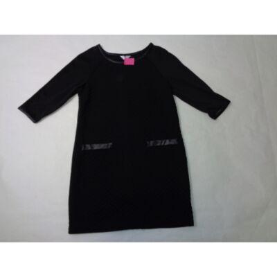 134-es fekete magában mintás ruha - Pepco