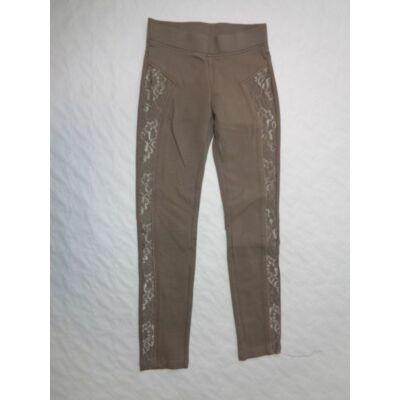 140-es leggings jellegű csipkés pamutnadrág