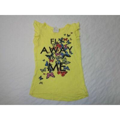 128-as sárga feliratos lepkés póló - Y.F.K.
